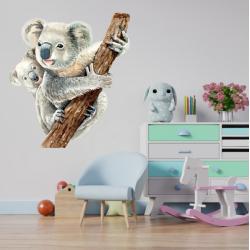 NJ2168 sienų lipdukas Koala su mažyliu