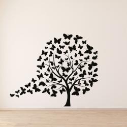 NJ3034 sienų lipdukas Medis drugeliai