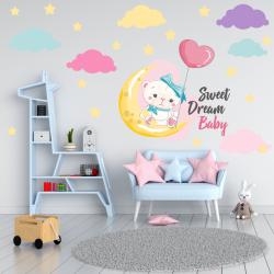 NJ3138 sienų lipdukas Sweet dreams baby