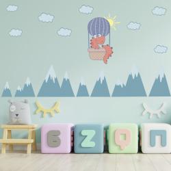 NJ3226 sienų lipdukas Dino oro balione