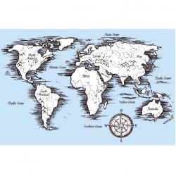 Fototapetas Pasaulio žemėlapis4