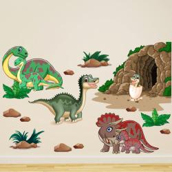 NJ3310 sienų lipdukas Dinozaurai