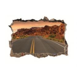 330 sienų lipdukas 3D Kelias
