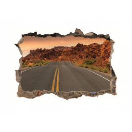 sienų lipdukas 3D Kelias