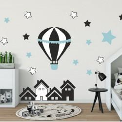 Vaikiškas sienų lipdukas Oro balionai4