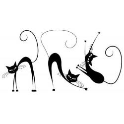 Vaikiškas sienų lipdukas Katės3