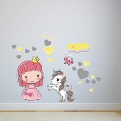 Vaikiškas sienų lipdukas Mažoji princesė