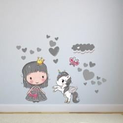Vaikiškas sienų lipdukas Mažoji princesė3