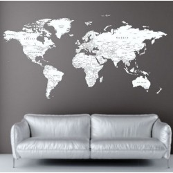 Vaikiškas sienų lipdukas Pasaulio žemėlapis