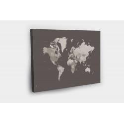 Kelionių žemėlapis su smeigtukais