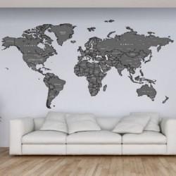 Vaikiškas sienų lipdukas Pasaulio žemėlapis6