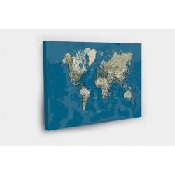 Kelionių žemėlapis su smeigtukais Melynas