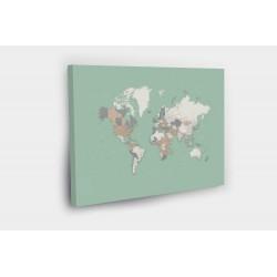 Kelionių žemėlapis su smeigtukais Šviesiai žalias