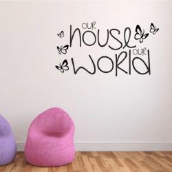 Sienų lipdukas Mūsų namas