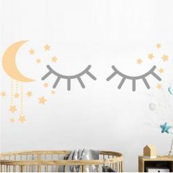 Vaikiškas sienų lipdukas Miegančios akytės2
