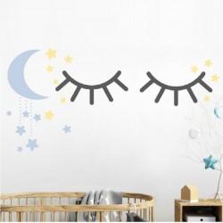 Vaikiškas sienų lipdukas Miegančios akytės3
