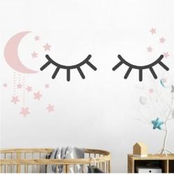 Vaikiškas sienų lipdukas Miegančios akytės4