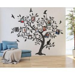 2524 Sienų lipdukas Medis su rėmeliais