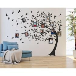 2523 Sienų lipdukas Medis su rėmeliais
