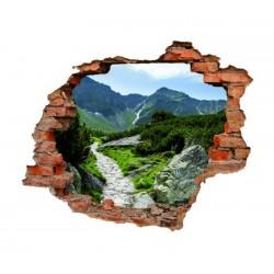 3041 sienų lipdukas 3D Kalnai