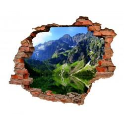 3032 sienų lipdukas 3D Kalnai