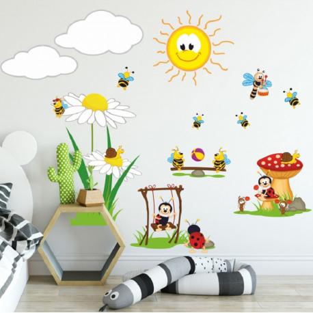 Vaikiškas sienų lipdukas Bitės