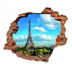 3082 sienų lipdukas 3D Eifelio bokštas