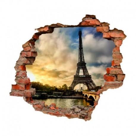 sienų lipdukas 3D Eifelio bokštas