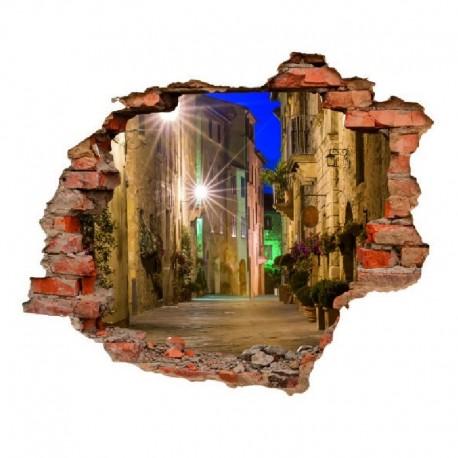 3083 sienų lipdukas 3D Miestas