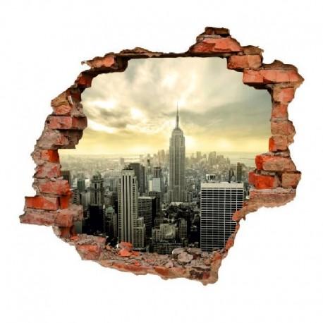 3016 sienų lipdukas 3D Miestas