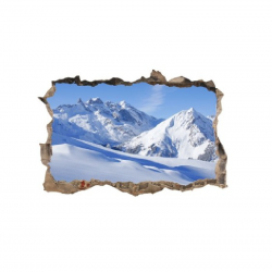 296 sienų lipdukas 3D Kalnai