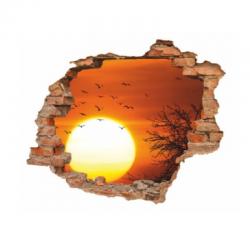 sienų lipdukas 3D Saulėlydis
