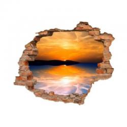 3188 sienų lipdukas 3D Saulėlydis