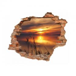 3121 sienų lipdukas 3D Saulėlydis