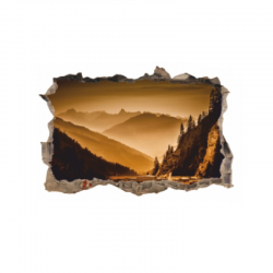 1329 sienų lipdukas 3D Kalnai