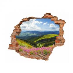 3090 sienų lipdukas 3D Kalnai