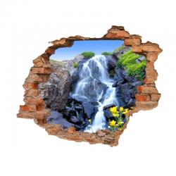 3170 sienų lipdukas 3D Krioklys