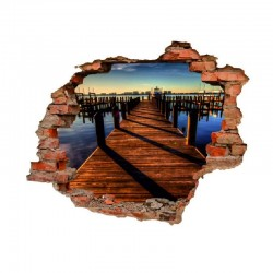 3007 sienų lipdukas 3D Tiltas
