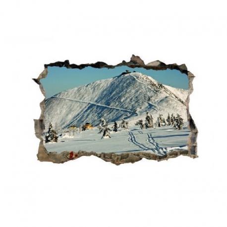 sienų lipdukas 3D Žiema