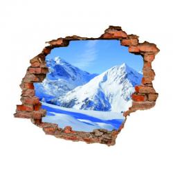 3008 sienų lipdukas 3D Kalnas