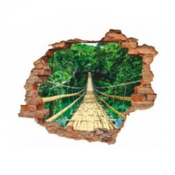 sienų lipdukas Beždžionių tiltas
