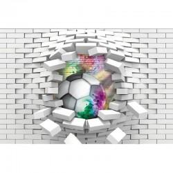 Fototapetas 3D Futbolas/plytos