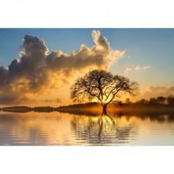 Fototapetas Saulėlydis ant ežero
