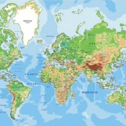 9993 Fototapetas Pasaulio žemėlapis