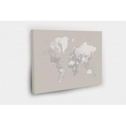 Kelionių žemėlapis su smeigtukais Pastelinis