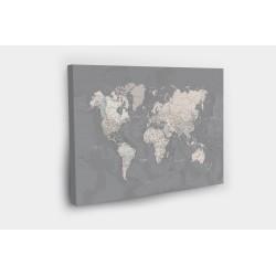Kelionių žemėlapis su smeigtukais Pilkai Rusvas
