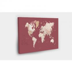 Kelionių žemėlapis su smeigtukais Raudonas