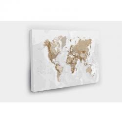 Kelionių žemėlapis su smeigtukais Rudas