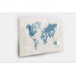 Kelionių žemėlapis su smeigtukais Melsvas