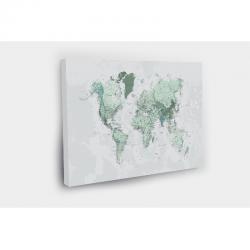 Kelionių žemėlapis su smeigtukais Pilkai žalias